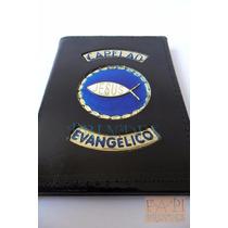 Porta Documentos Em Couro Legítimo Capelão Evangélico P43p