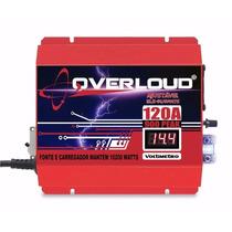 Fonte Automotiva Overloud 120a Bivolt Voltimetro Som Bateria