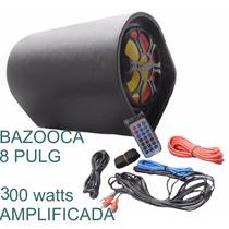 Bazooca Amplificada 8 Pulg Control Puerto Usb Triaxial Medio