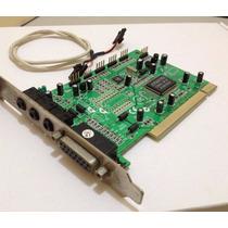 Tarjeta Sonido Pci 3d Audio Con Midi Puerto Juego 4 Canales