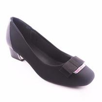 Sapato Usaflex Social Feminino Preto Promoção 583500