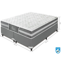 Conjunto (cama Box+colchão) Casal Pocket 158x198x67 Queen