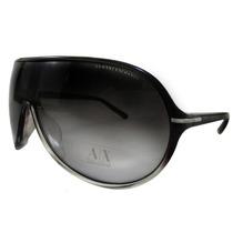 Óculos De Sol Armani Exchange Ax216/s - Preto E Branco