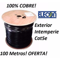 Cable Utp Cat5e 100 Metros Intemperie Exterior Elecon
