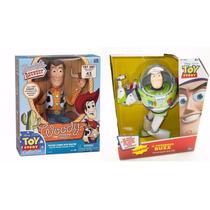 Toy Story Réplica Xerife Woody Com Fala + Buzz Lightyear