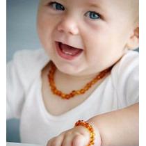 Colar De Âmbar Para Bebê!pronta Entrega Cor Mista E Castanha