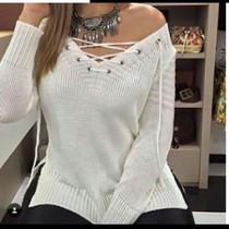 Blusa Tricot/tricô Feminina Outono Inverno