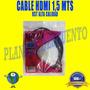 Cable Hdmi 1,5 Mts Doble Filtro Malla Rst