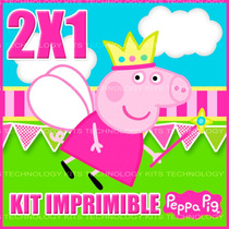 Kit Imprimible Peppa Pig Texto Editable 2x1 Original