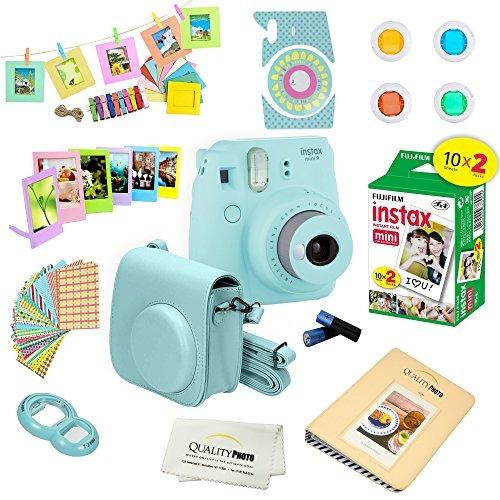 716dd2b090 Fujifilm Instax Mini 9 Instantánea Cámara Azul De Hielo W - $ 533.086 en  Mercado Libre