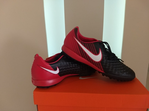 Chuteira Society Nike Magista Onda 2 Tf Preto E Vermelho. - R  249 ... ac9f7a0cf7c56