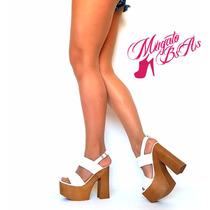 Zapatos Mujer Con Plataforma Pretemporada Primavera-verano