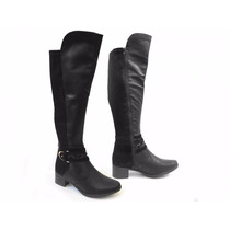 Bota Feminina Over The Knee X4361 Com Ziper - Mississipi