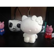 Hello Kitty /yeso En Blanco (para Pintar) Bizcocho Alcancia