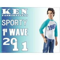 Boneco Ken Fashionistas Sporty - Todo Articulado