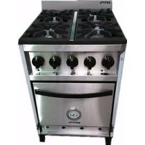 Cocina Industrial De Acero Esmerilado 4 Horn 57cm Pyfer