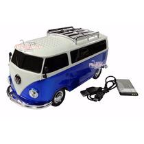 Caixa Caixinha De Som Portatil Carro Kombi Micro Sd Usb Fm