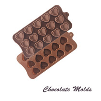 Molde De Silicon Corazon Con Relieve Para Chocolate