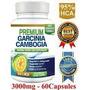 Pure Garcinia Cambogia Premium 95% Hca 3000 Mg, 60 Capsulas