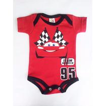 Body Bebê Piloto Carros Mcqueen Cars