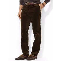 Pantalon De Pana Polo Ralph Lauren Cafe 32x32 100% Original