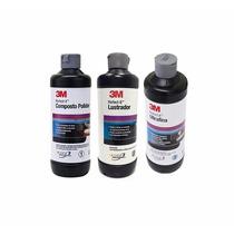Kit Polimento Cristalização Espelhamento Profissional 3m