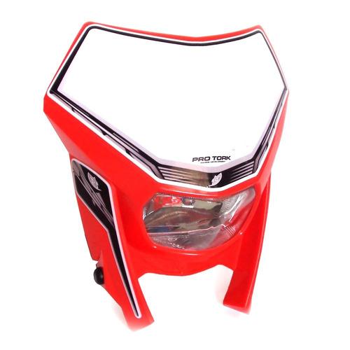 Compre Armário Classic Líder Design Vermelho: Farol Carenagem Off Crf Tornado Ttr Xr200 Pro Tork