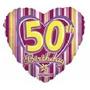 Globo Metalizado Numero 50 Años (cincueenta) De 18 Pulgadas