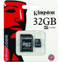 Memoria Micro Sdhc 32gb Kingston Clase 10 + Adaptador Sd