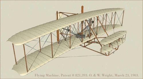Como Dibujar La Maquina Voladora: Lienzo Tela Avión Hermanos Wright 1903 The Flyer 50 X 90