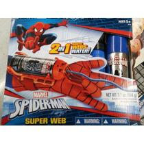 Guante Lanza Telaraña Y Agua 2x1 Spiderman