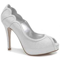 Sapato Laura Porto Peep Toe Meia Pata   Zariff
