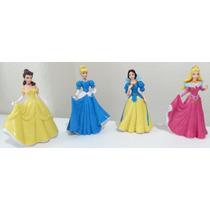 Kit 4 Bonecas Princesas Disney Bela Ariel Cinderela Neve