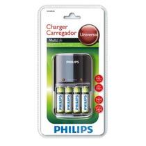 Carregador De Pilhas Philips Aa/aaa Com 4 Aa 2450mah - 110v