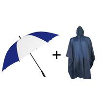 Paraguas + Capa De Lluvia De Pvc. Varios Colores