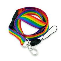 Cinta Portagafete Llaves Bandera Lgbt Gay Lesbiana Arcoiris