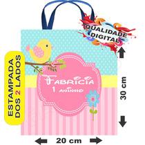 50 Sacolinhas Personalizadas Ecobag # Jardim Passarinhos