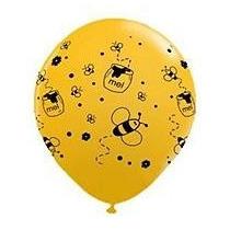 25 Balões/bexigas Decorados Estampa Abelhinhas