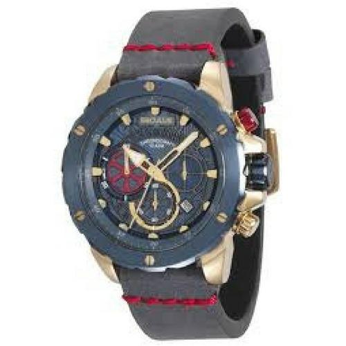ec41cc3d188 Relógio Masculino Seculus Cronógrafo Couro 13017gpsvlc3 - R  899