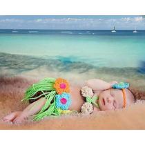 Newborn Forografia Bebe Recem Nascido Praia Havaiana Croche