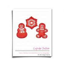 Cortadores Para Galletas Con Esténcil Navidad Wilton #1653