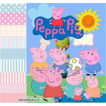 Kit Imprimible Pack Fondos Peppa Pig 3 Clipart
