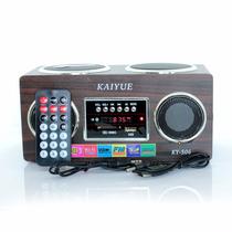 Caixa Som Portatil Recarregavel Radio Fm Mp3 Usb Kaiyue