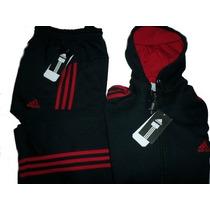 Conjuntos Adidas Pantalon Mas Campera C / Capucha Talle Xxxl