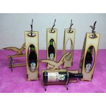 5 Cajita Porta Fernet 5 Cl Para Souvenirs, Fibrofacil, Mdf