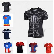 Camiseta Super Héroes Marvel Lycra Playera Entrega 4 A5 Sem