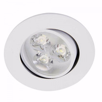 Kit 4 Spot Led 3w Lampada Dicroica Direcionável Branco Frio
