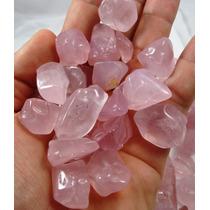 Lote Com 100 Gramas Quartzo Rosa Transparente Polido