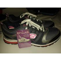 Zapatos Skechers Azul Y Fucsia Nuevos