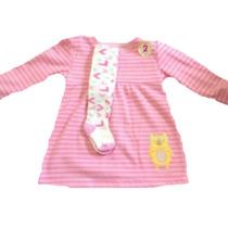 Oferta: Vestido Con Mallas Baby Creysi Con Gato Rosa